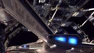 Enterprise NX-01 verlässt Raumdock