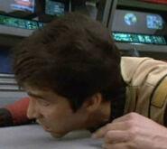 Excelsior crewman 3, Flashback