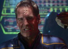 Jonathan Archer with Klingon ridges