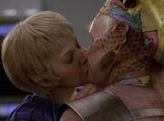 Kes and Neelix kiss