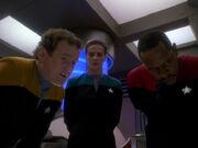 O'Brien und Dax unterrichten Sisko