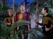 Riker gefangen im Kraftfeld