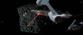 USS Enterprise-E engages Borg at 001