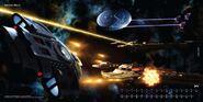 2010 Star Trek Ships of the Line calendar July spread
