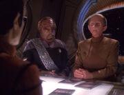 Kimara Cretak, Worf, and Odo