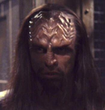 ...as a Klingon guard