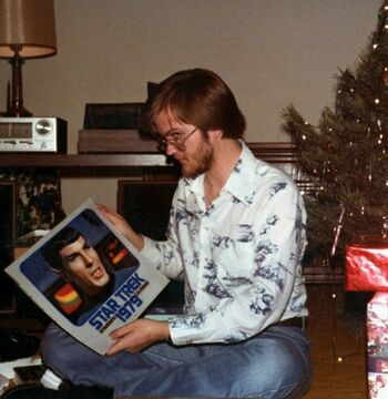 """...with <a href=""""/wiki/The_Star_Trek_Calendar_(1979)"""" title=""""The Star Trek Calendar (1979)"""">a <i>Star Trek</i> calendar</a> at Christmas <a href=""""/wiki/1978_(production)"""" title=""""1978 (production)"""">1978</a>"""