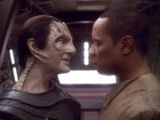 Mirror Garak and Benjamin Sisko