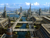 Qomar surface city