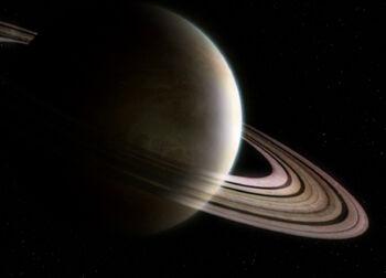 Saturn from orbit