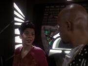 Sisko versucht Kasidy auszufragen