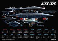 Star Trek Calendar Poster 2016