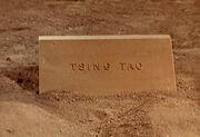 Tsing tao tombstone