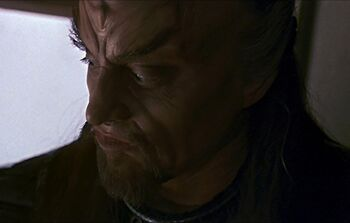 West disguised as a Klingon