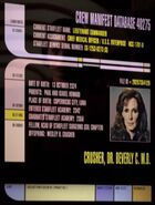 Beverly Crusher personnel file remastered