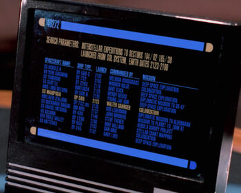 The SS <i>Seattle</i> listed on Picard's monitor
