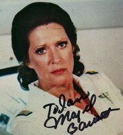 Majel Barrett autographe