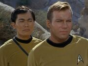 Sulu and Kirk, 2267