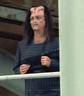 ... as an alien guard