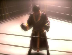 Chakotay in a chaotic space boxing ring