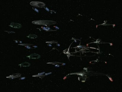 Federation Alliance fleet departs DS9