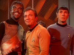 Kang, James T. Kirk, Spock