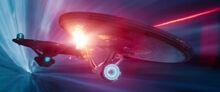 USS Vengeance fires on the USS Enterprise