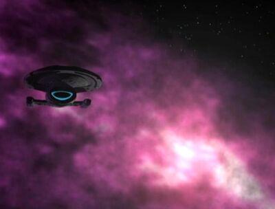 Voyager in der Nekrit-Ausdehnung