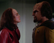 K'Ehleyr and Worf argue