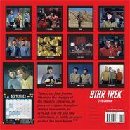 Star Trek Calendar 2015 back cover