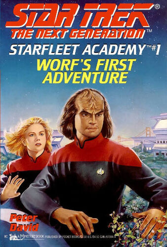 Cover of book 1, <i>Worf's First Adventure</i>