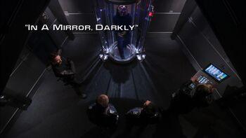 In a Mirror, Darkly title card