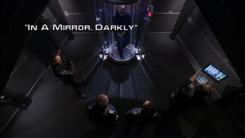 In a Mirror, Darkly title card