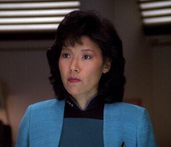 Doctor Alyssa Ogawa in alternate timeline