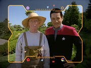Boothby and Chakotay holophoto