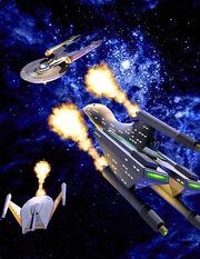 Federation Commander Romulan Attack