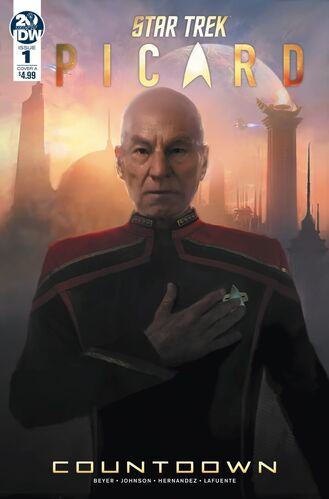 Cover of issue 1 of <i>Star Trek: Picard - Countdown</i>