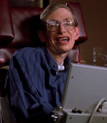 Holographic recreation of Stephen Hawking