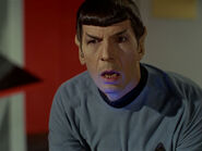 Spock reacts to the death of the Intrepid