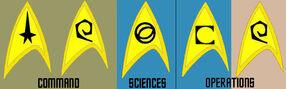 Starfleet division insignia, 2254