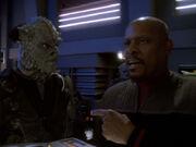 Ixtana'Rax und Sisko beschuldigen sich gegenseitig