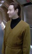 Lore wearing a 2360s utility uniform