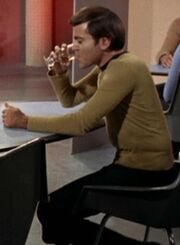 Chekov drinking vodka