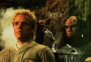David Marcus with Klingon sergeant