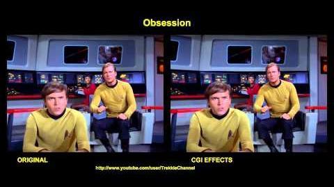"""TOS """"Obsession"""" - comparaison des effets spéciaux"""