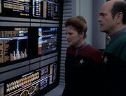 Janeway and the Doctor - Tachyons