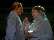 Odo and Lwaxana Troi married