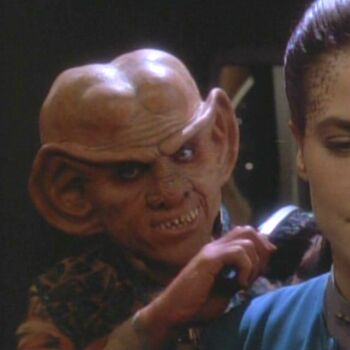 Quark as Audrid Dax during Jadzia's <i>zhian'tara</i>
