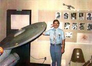 USS Enterprise studio model on its first public appearance