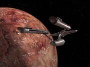 Enterprise im Orbit von Minara II